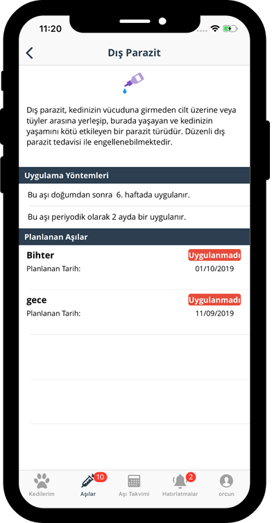kedi-asi-takvimi-uygulamasi-ekran-goruntusu3